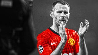 League ryan giggs stars cutout football player wallpaper