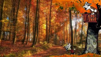 Nature forests calvin and hobbes artwork Wallpaper