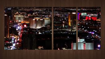 Night las vegas usa cities skyline wallpaper