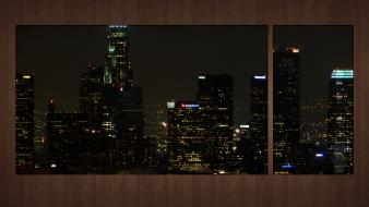 Night usa los angeles cities skyline wallpaper