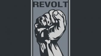 Revolution fist radical wallpaper