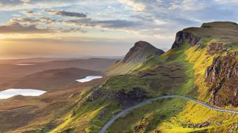 Scotland roads panorama lakes isle of skye wallpaper