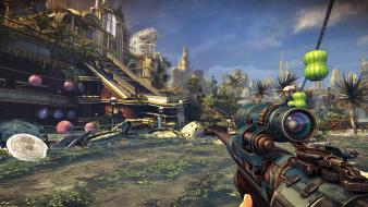 Sniper bulletstorm cities game first person shooter Wallpaper
