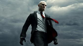 Suit tie men hitman absolution agent 47 wallpaper