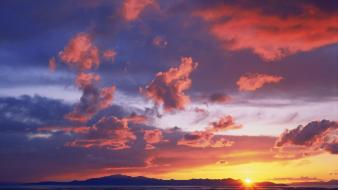 Sunset landscapes nature salt utah great wallpaper