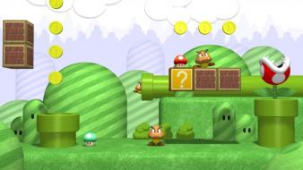 Video games super mario goomba mushroom kingdom wallpaper