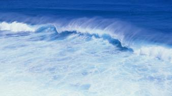 Water waves surfing panorama seascapes wallpaper