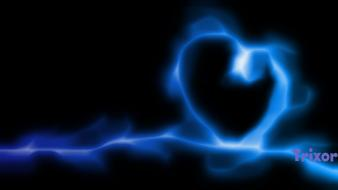White smoke hearts neon lights background colors wallpaper