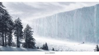 Winter snow trees concept art game of thrones wallpaper