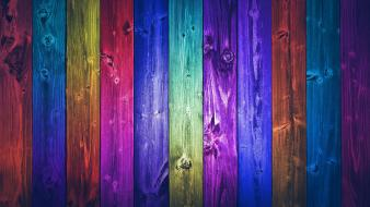 Abstract artistic multicolor wood panels wallpaper