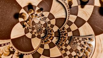 Abstract futuristic chess 3d wallpaper