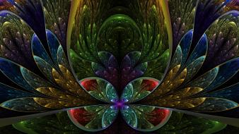 Abstract multicolor fractals artwork symmetry wallpaper