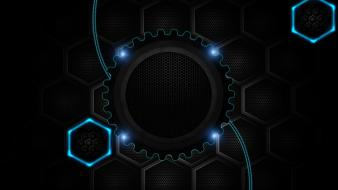 Abstract technic technologic wallpaper