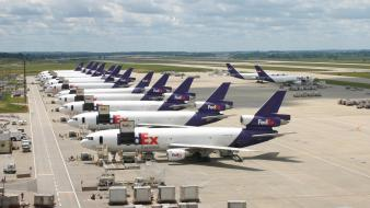 Aircraft cargo aircrafts fleet fedex bussines wallpaper
