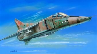 Aircraft military soviet artwork mig-23 mig-21 wallpaper