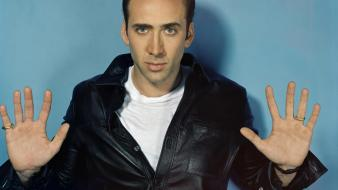American actors nicolas cage leather jacket producer directors wallpaper