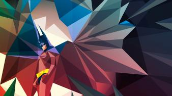 Batman dc comics superheroes geometry artwork liam brazier wallpaper
