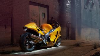 Bikes vehicles motorbikes suzuki hayabusa street Wallpaper