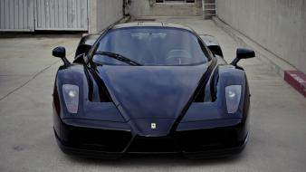 Black cars ferrari supercars enzo automobile wallpaper