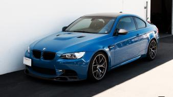 Blue parking front view bmw m3 coupe Wallpaper