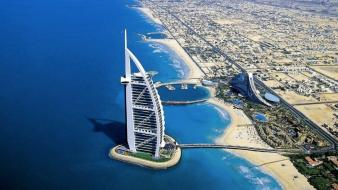 Buildings dubai hotels cities sea wallpaper