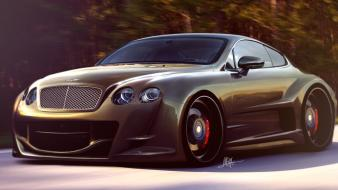 Cars bentley virtual tuning races continental wallpaper