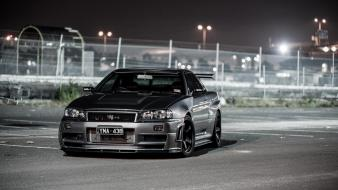 Cars nissan skyline r34 gt-r front angle view wallpaper