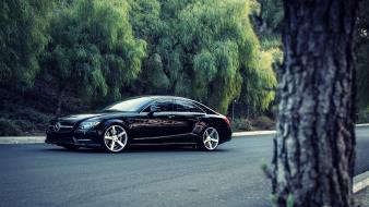Cars roads vehicles mercedes-benz mercedes benz cls550 automobile Wallpaper