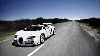 Cars speed bugatti veyron super sport skies Wallpaper