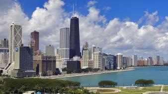 Cityscapes chicago gold coast illinois cities wallpaper