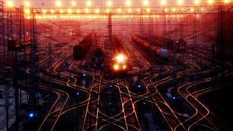 Cityscapes china station trains city lights wallpaper