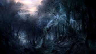 Dark forest enchanted ghost Wallpaper