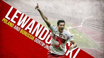 Dortmund robert lewandowski polish flag football player wallpaper