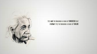 Einstein scientists wise simple wisdom famous quote wallpaper