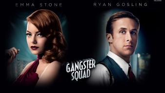 Emma stone ryan gosling gangster squad (movie) wallpaper