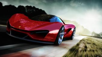 Ferrari concept art races Wallpaper