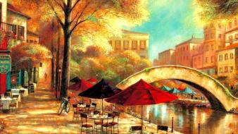 Flowers coffee town cafe morning sunny rest wallpaper