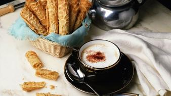 Food cappuccino wallpaper