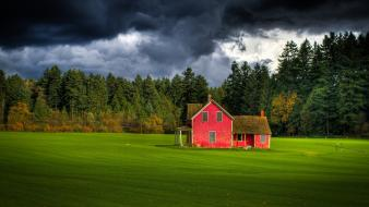 Forests houses canada dark sky farm wallpaper