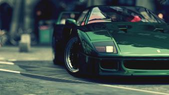 Green cars ferrari wheels gt5 f 40 Wallpaper