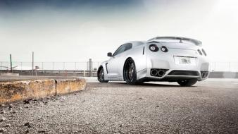 Gtr rear view nissan auto tuned car wallpaper
