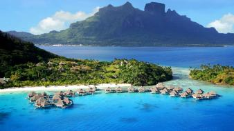 Landscapes nature french polynesia wallpaper