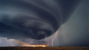 Landscapes storm lightning tornado wallpaper