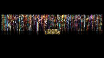 League of legends collage champions panels game wallpaper