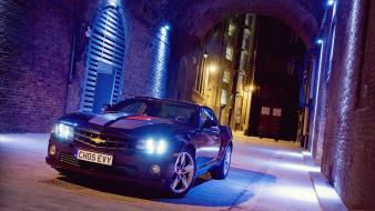 Lights cars chevrolet vehicles camaro ss automobile wallpaper