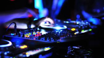 Lights dj allen and heath night view cdj-2000 Wallpaper