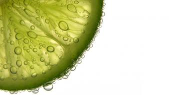 Limes bubbles wallpaper