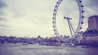 London eye thames wallpaper