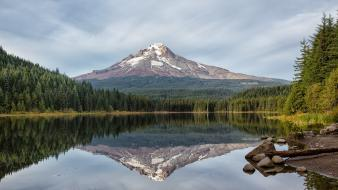 Mountains landscapes nature lakes mt. hood wallpaper
