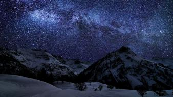 Mountains nature night stars germany milky way skyscapes wallpaper